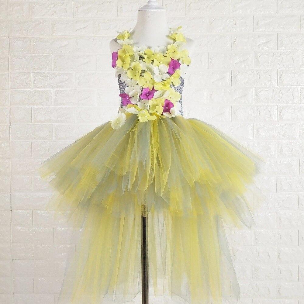 ab83e99ae Yellow And Grey Flower Girl Dresses - raveitsafe