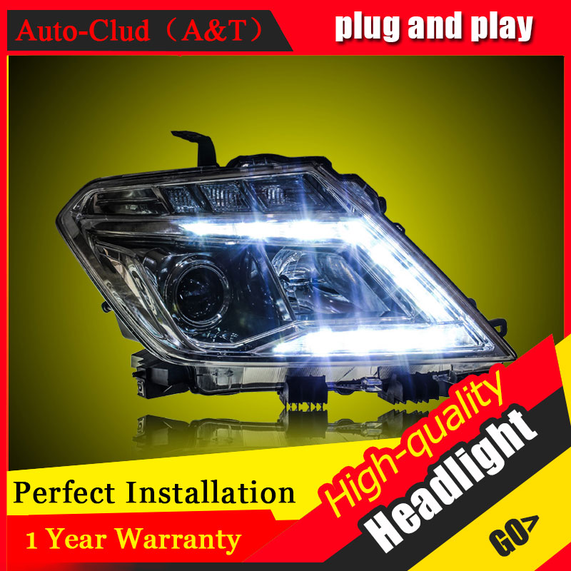 Auto Clud Car Styling For Nissan Patrol headlights For Patrol head lamp led DRL front light Bi-Xenon Lens Double Beam HID KIT auto clud car styling for bmw 1series e87 120i 130i headlights for e87 head lamp led drl front bi xenon lens double beam hid kit