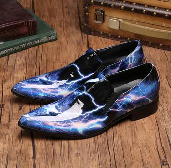 Fashion Men Shoes Genuine Leather Men Dress Shoes Brand Luxury Men's Business Casual Pointed Toe Shoes Man