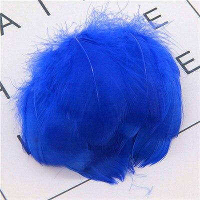 Натуральные перья лебедя 4-7 см 1-2 дюйма маленькие плавающие Шлейфы гусиное перо цветной шлейф для украшения рукоделия 100 шт - Цвет: hot blue 100pcs