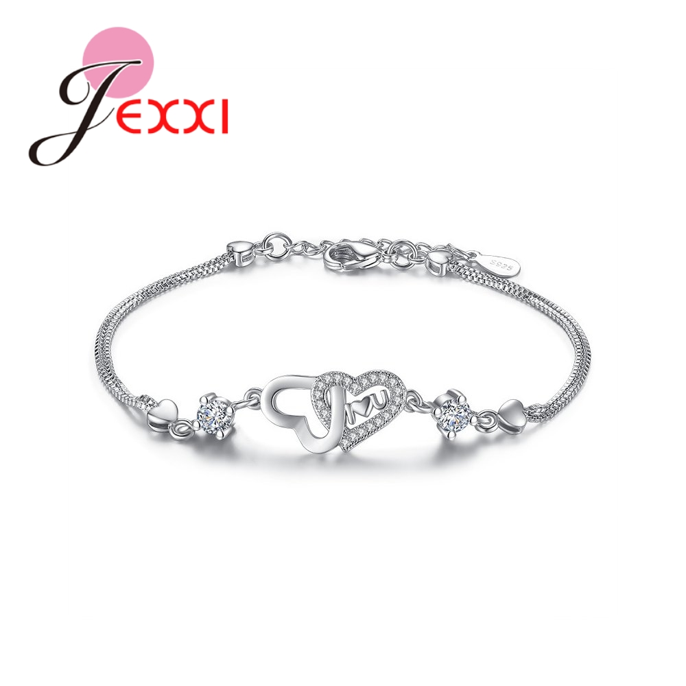 Trendy Lady Shiny Anel Mujer Bracelet For Women Bridal Wedding Engagement Anniversary Party Jewelry 925 Sterling Silver