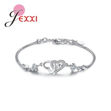 Trendy Lady Shiny Anel Mujer Bracelet For Women Bridal Wedding Engagement Anniversary Party Jewelry 925 Sterling Silver(China)