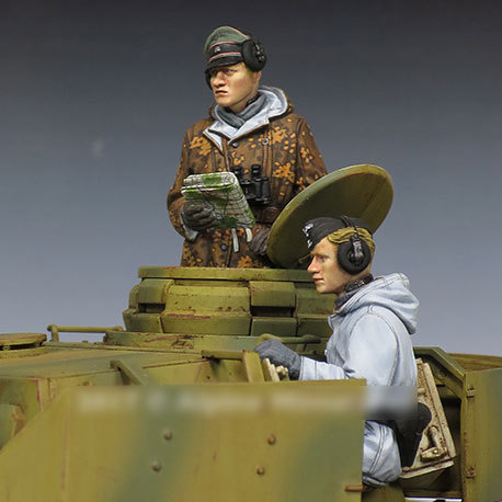 [tuskmodel] 1 35 scale resin model figures kit WW2  A240 1