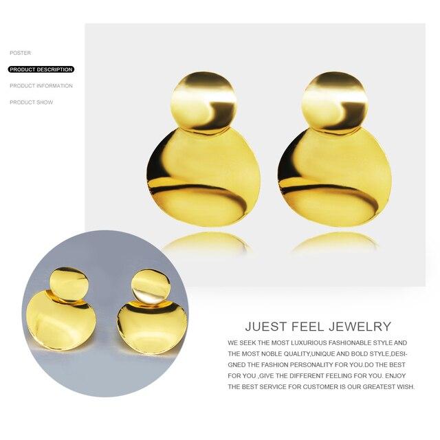 Купить женские серьги подвески в виде двух монет золотого цвета
