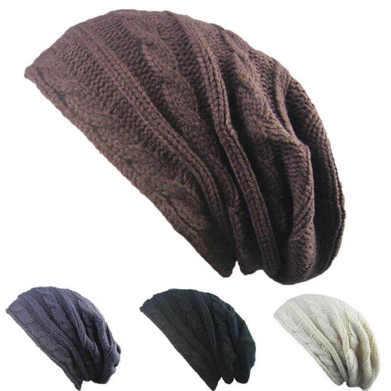 5bb937d5fad Fashion new style two color men and women models two color knitting hat  outdoor street dance hat oversized hat 42 65 cm-in Men s Skullies   Beanies  from ...