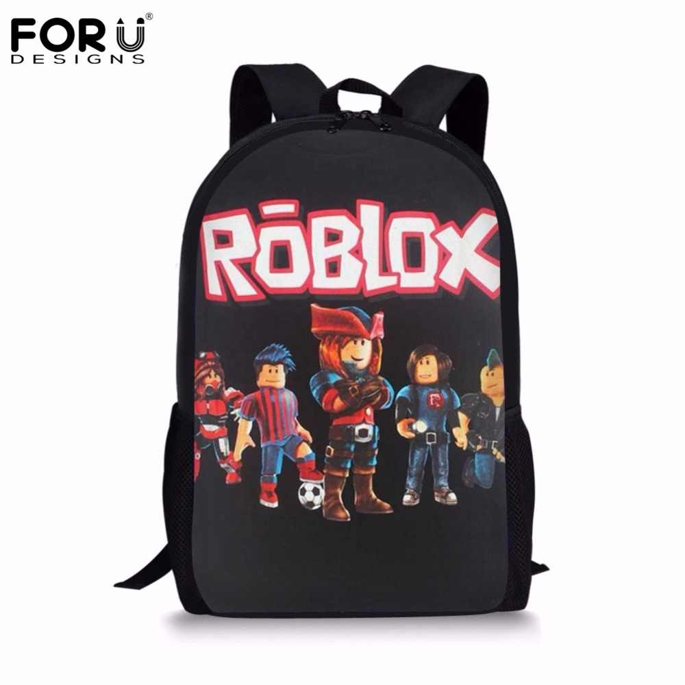a0a4c15e74 FORUDESIGNS Cartoon Roblox Game Printing School Backpack for Teen Boys  Girls Schoolbags Children s School Bags Book