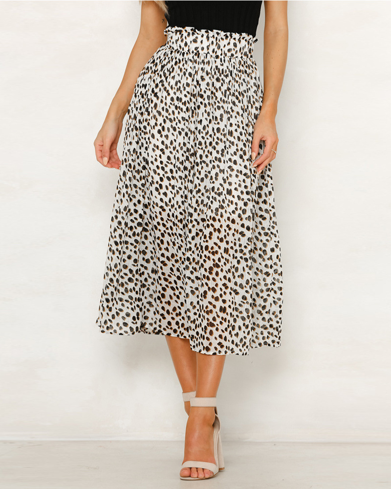 5ee99069a725 Plus Size Leopard Print Midi Skirt