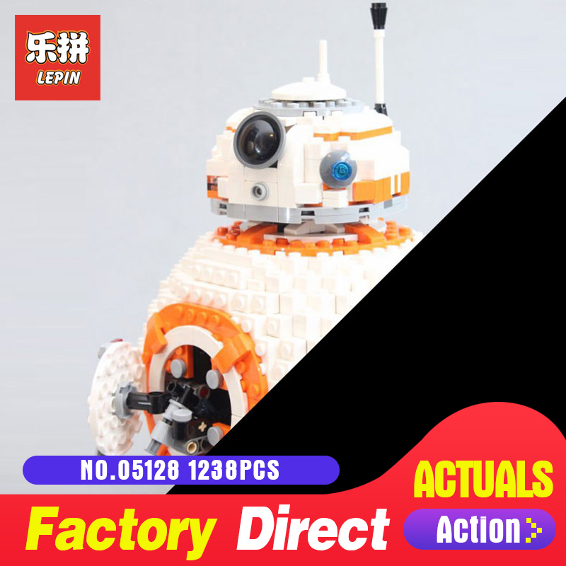 lepin 05128 star series bb8 robot LegoINGlys 75187 model Building kits Blocks Bricks toys for boys toys for Children gift Wars цена