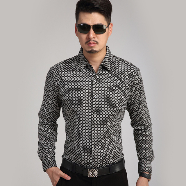 1469d6a0700 Printed Black Shirt Custom Shirt