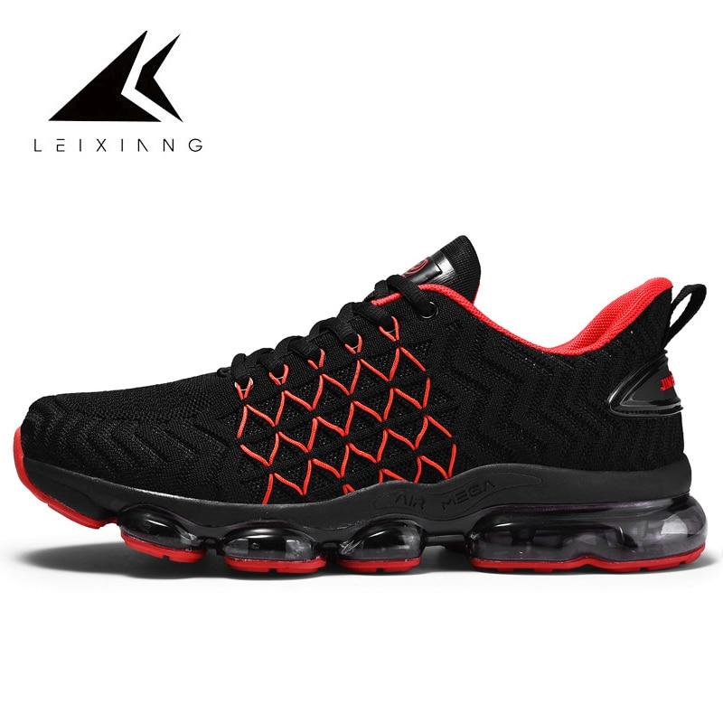 2019 chine rouge baskets hommes formateurs grand Air semelle maille chaussures de course respirant mouche tricot chaussures de Sport amortissement Masculino Adulto