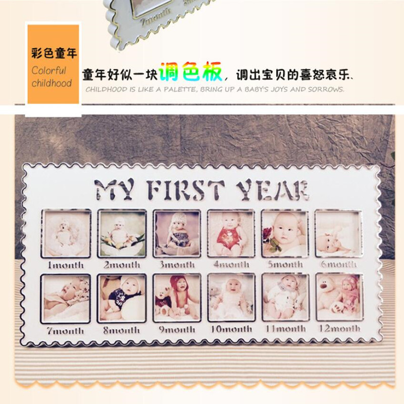 Aliexpress.com : Buy Baby\'s First Year DIY Picture Frame Decorative ...
