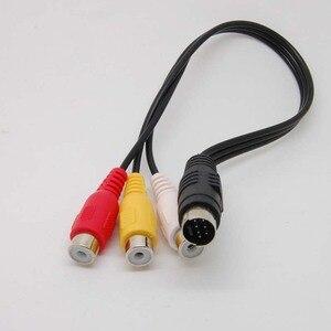 Image 3 - 7 контактный S видео штекер к 3 RCA разъем видео адаптер кабель Новый