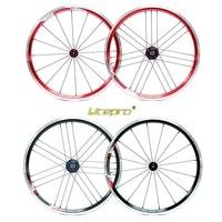 Folding Bike Wheelset Litepro 20Inch 406 16 20Hole Ultralight Refiting Wheel Group Front Wheel 74/100 Rear wheel 130/135