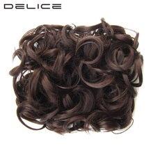 Delice Для женщин вьющиеся Шиньон с эластичной сеткой два Пластик Расчёски и гребни для волос прически крышка шиньоны Синтетические волосы булочки