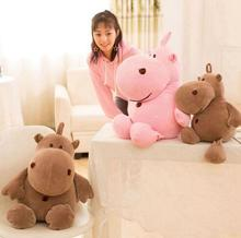 WYZHY soft hippo doll pillows plush toy sofa decoration to send friends and children gifts 60CM