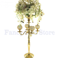 Crystal Wedding Candelabra Flower Stand