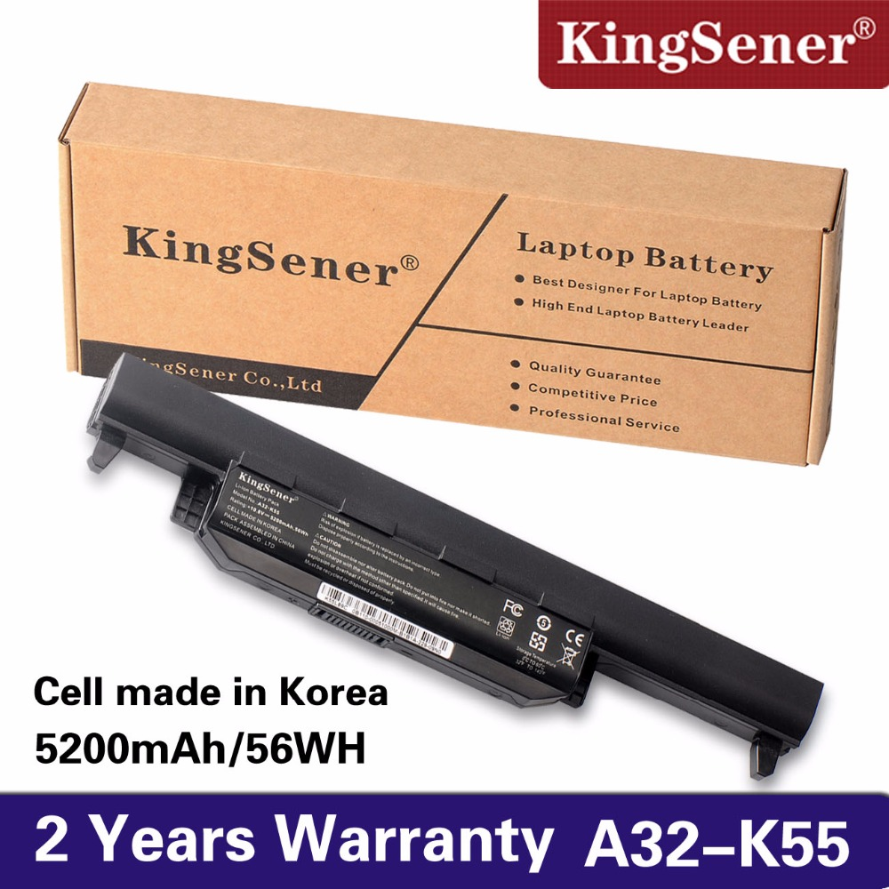 KingSener New A32-K55 Battery for ASUS X45 X45A X45C X45V X45U X55 X55A X55C X55U X55V X75 X75A X75V X75VD U57 U57A U57V U57VD 6cell laptop battery a32 k55 a33 k55 a41 k55 for asus x55u x55v x55vd x75 x75a x75v x75vd k55
