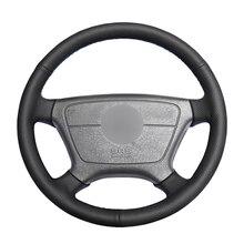 Сшитый вручную черный чехол рулевого колеса автомобиля из искусственной кожи для Mercedes Benz E Class W210 E 200 240 280 320 1995 2002