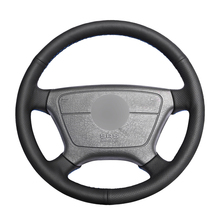 Hand stitched Black PU Artificial Leather Car Steering Wheel Cover for Mercedes Benz E Class W210 E 200 240 280 320 1995 2002