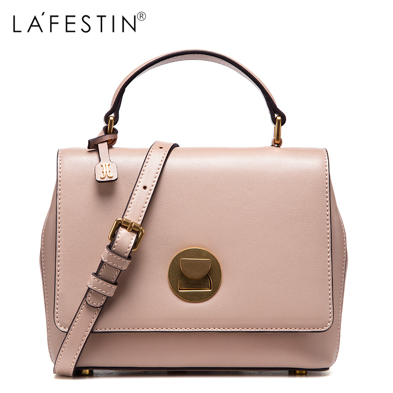 LAFESTIN 2017 Women Shoulder Bag Genuine Leather Saddle Fashion Women Fashion Crossbody Bag Designer  Luxury Brands bolsa lafestin luxury shoulder women handbag genuine leather bag 2017 fashion designer totes bags brands women bag bolsa female