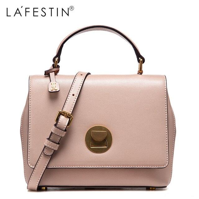 7abcda0b8fcd LAFESTIN 2017 Women Shoulder Bag Genuine Leather Saddle Fashion Women  Fashion Crossbody Bag Designer Luxury Brands