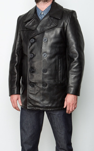 Image 1 - YR!Free shipping.classic black casual leather jacket,mens slim genuine leather coat.plus size,warm business cowhide overcoat