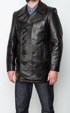 YR! spedizione gratuita. classico nero giacca di pelle casual, mens sottile genuino cappotto di pelle. più il formato, caldo di affari della pelle bovina cappotto