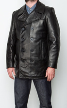 ปี! จัดส่งฟรี. คลาสสิกสีดำเสื้อหนังลำลองบุรุษของแท้หนัง. plus ขนาด, warm cowhide overcoat
