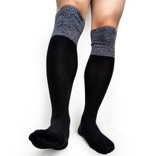 Men Striped Patchwork Cotton Formal Socks Knee high Fashion Men stocking Winter Autumn Dress suit Male Socks Sexy Collection knee high mens formal dress suit stocking good quality brand male sexy socks patchwork long socks cotton breathable socks