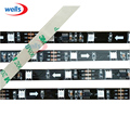 5m DC12V Black PCB 30/48/60 leds/m 10/16/20 pcs ws2811 ic/meter(10/16/20pixels) led digital strip,addressable individual