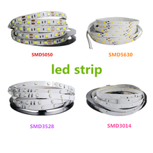 5M DC 12V 300LED 3014 3528 5050 5630 SMD waterproof LED Ribbon Strip Lighing Flexible Neon Lamp Tiras LED Light Tape Stripe