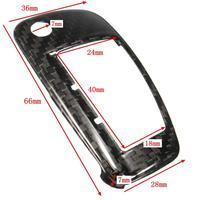 1 компл. углеродного волокна текстура автомобиля дистанционного флип ключ крышка держатель чехол кожи оболочки 3 бтн для Ауди/А1 /А3/А4