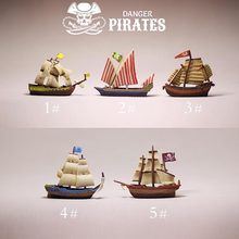 New~pirate ship/doll house//miniatures/cute/fairy garden gnome/moss terrarium decor/figurine/table decor/diy supplies/toy/model(China)