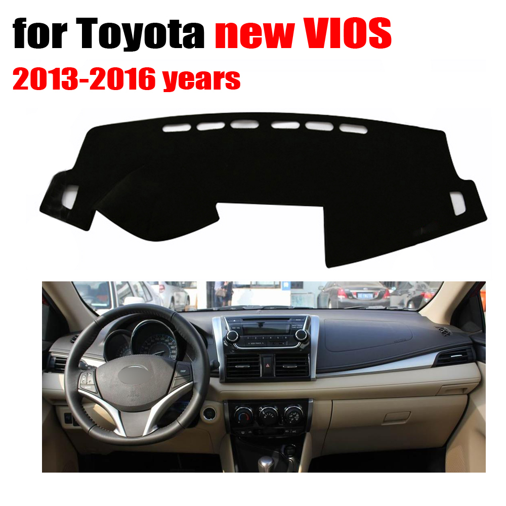 Car dashboard cover mat for toyota new vios 2013 to 2016 years left hand drive dashmat