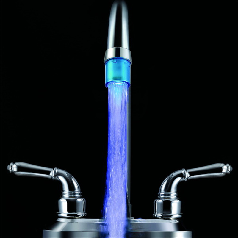 Cheap Priced LED single blue color Water faucet light for creative gift with adaptor and package