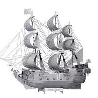 3d-металла модель головоломки лобзики модель корабля DIY подарок черная жемчужина пиратский корабль 3D лазерной резки модели развития интелле...