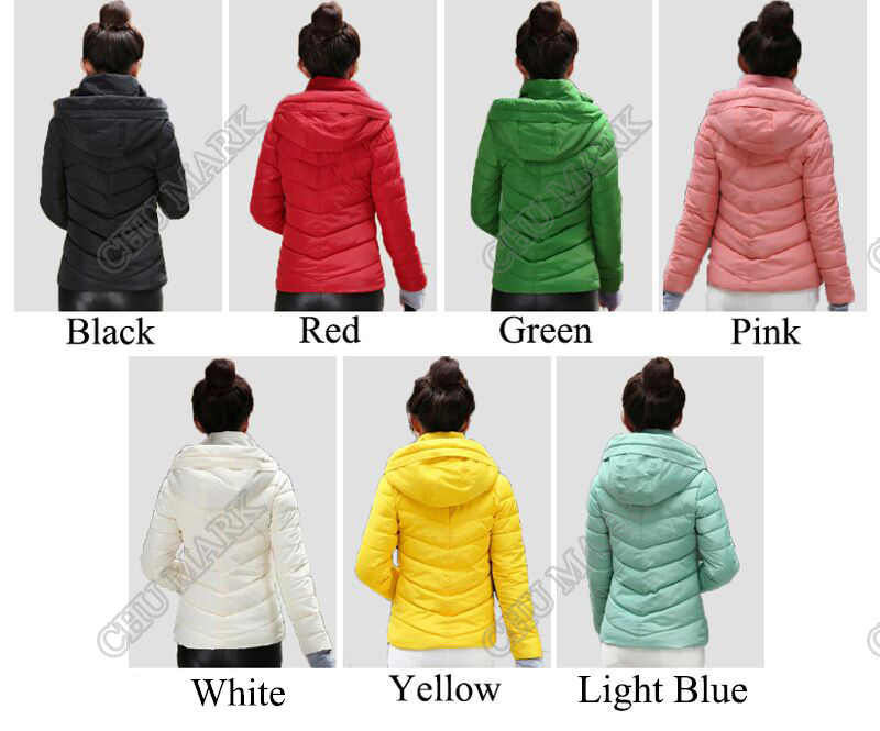 Winter Jacket Women Parkas Thicken Outerwear solid hooded Coats Short 15