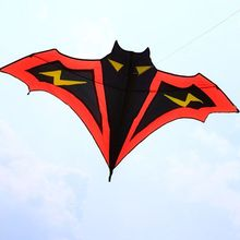 1.8m Cartoon Bat Kites FRP Resin Rod Flying Sports Beach Ripstop Nylon Kitesurf Children Gift Family Outdoor Sport Activity