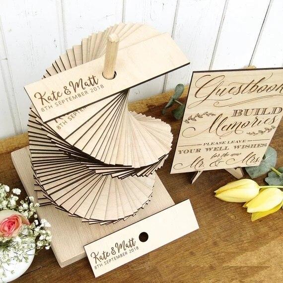 Personalize 3d Rustic Wedding Guest Book Tower Custom Wood Guest Book Alternative Build Memories Guestbook 3d Guestbooks Signature Guest Books Aliexpress