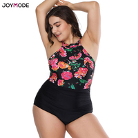 JOYMODE Sexy Bikini Mujer One Piece Monokini Women 2018 Swimsuit Fat Supper Plus Size 4XL Maio