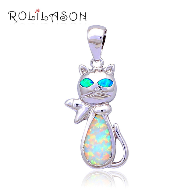 Cute animal design excellent green fire opal silver stamped pendants cute animal design excellent green fire opal silver stamped pendants wholesale retail fashion jewelry brithday mozeypictures