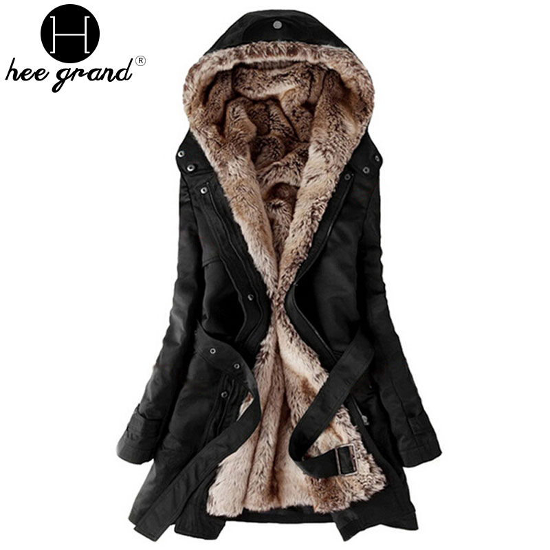 Warm Long Coat 2017 Fashion Faux Fur Lining Women's ...