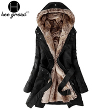 Warm Long Coat 2017 Fashion Faux Fur Lining Women's Hoodies Ladies Winter Jacket Jaqueta Feminina WWM056