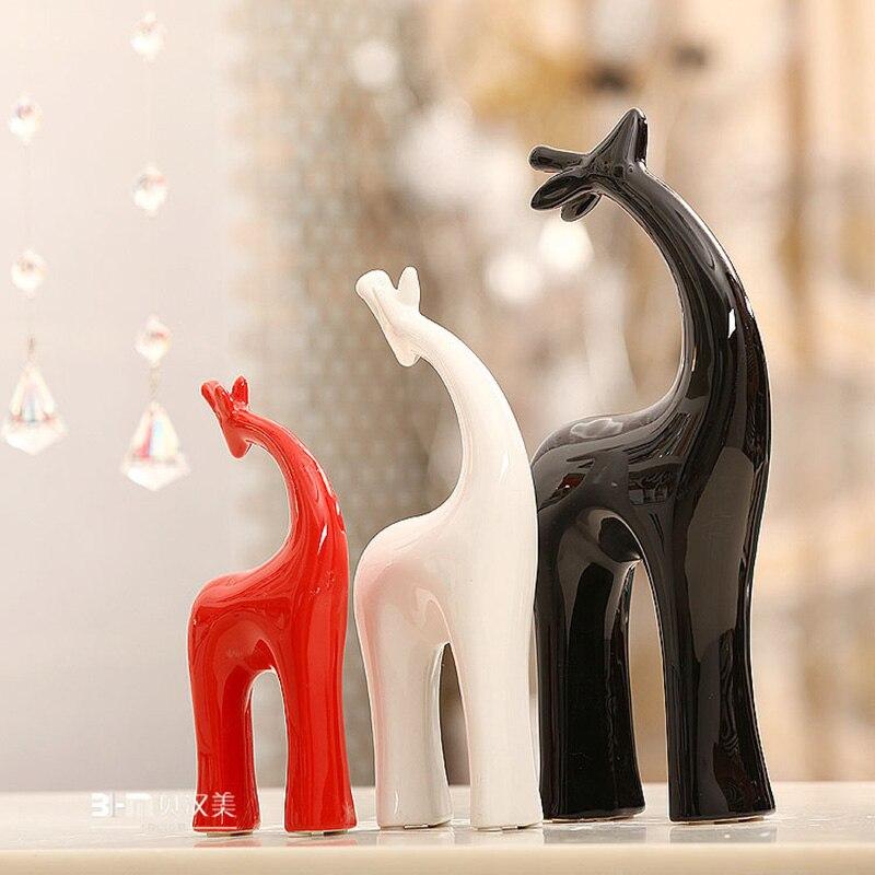 Европейский стиль Простые скандинавские белые керамические голова оленя животные до украшения предмет интерьера, украшение подарок фонта... - 3