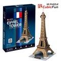 Кэндис го! 3D игрушки головоломки CubicFun мире отличная архитектура 3D бумажная модель головоломки игра Эйфелева Башня