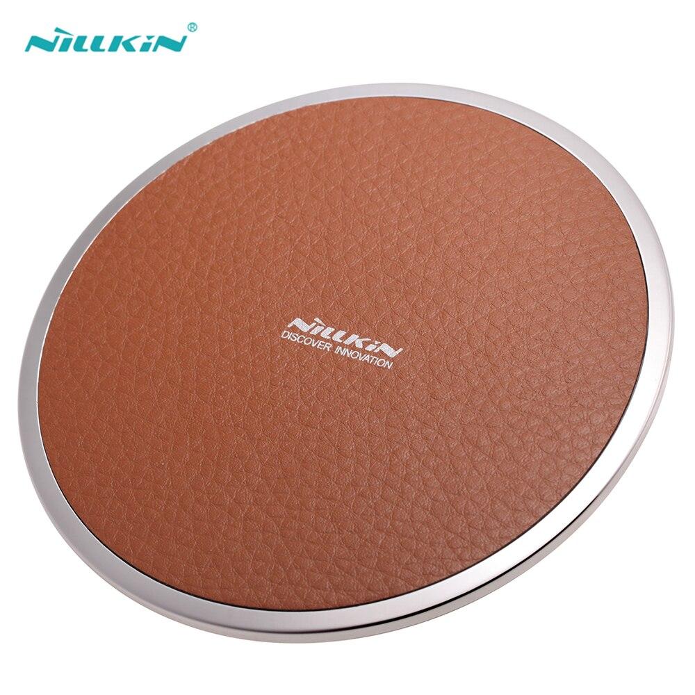 Nillkin Qi Chargeur Sans Fil pour iPhone 8 8 Plus De Bureau en cuir Qi Chargeur pour iPhone X Sans Fil Adaptateur De Charge Téléphone de charge