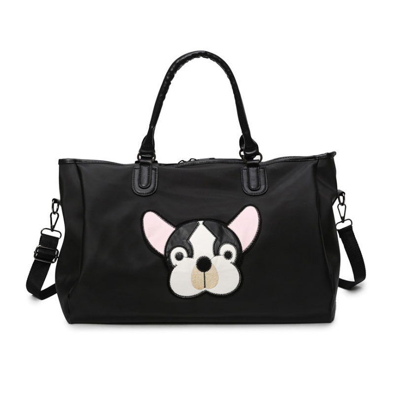 Women Waterproof Travel Bag PU Leather Handbag Large Capacity Portable Diagonal Baggage Animal Pattern Men Duffel Bag