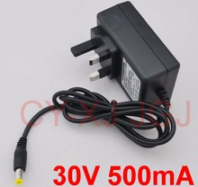 1pcs 30V 500mA UK plug For BOSCH Athlet Vacuum cleaner Charger Home wall charging Power supply