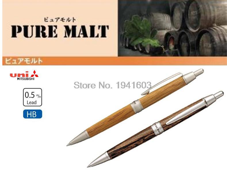 One Piece Japan Uni Pure Malt Mechanical Pencil 0.5mm Oak Wood Natural or Dark Brown colors M5-1025 5 liter american white oak barrel unfinished full highland malt whisky kit