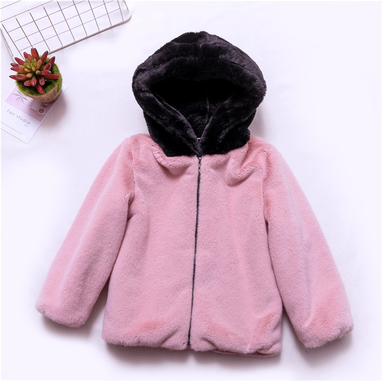 8a71d3e0d t02 toddler girl winter clothes girl   boy Furry Coat Hooded padded ...